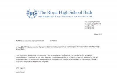 Recommendation Letter from The Royal High School Of Bath