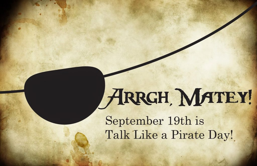 International Talk like a Pirate Day 2018